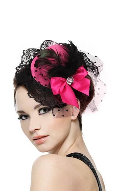 Шляпка с бантиком розовая