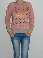 Плотный коттоновый реглан женский в горох рр. 44-46 Турция