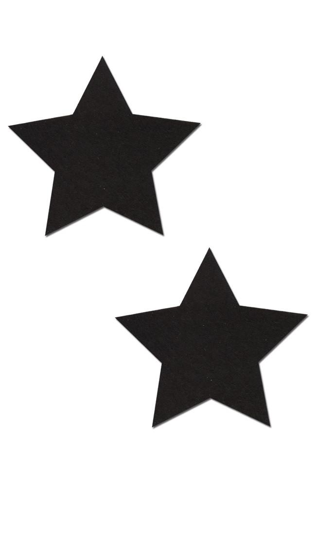 Наклейки на соски звездочки черные