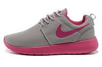 Женские кроссовки Nike Roshe Run, найк роше ран серые