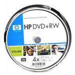 """Диски HP DVD + RW 4.7 GB CB """"10"""" 4x"""