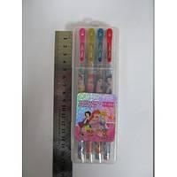 Набір гелевих ручок в пластиковій упаковці 8 кольорів Принцеси з блискітками JO HY004-8