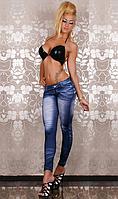 Леггинсы-джинсы синие