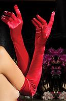 Длинные красные перчатки