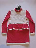 Детское платье с баской р-р 122-140
