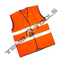 Жилет светоотражающий нейлон оранжевый