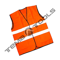 Жилет светоотражающий Х/Б оранжевый
