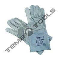 Защитные перчатки сварщика (краги) 35 см, серые