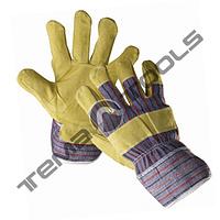 Перчатки кожаные цветные (радуга)