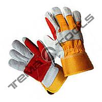 """Перчатки комбинированные из замши и ткани, усиленная ладонь 10,5"""", 250-255 г"""