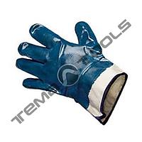 """Перчатки масло-бензостойкие утепленные, нитриловое покрытие, манжет крага (синие), 10,5"""", 116-120 г"""