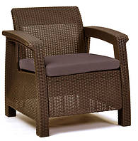 Кресло пластиковое Corfu Duo, коричневое, фото 1