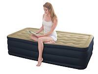 Односпальная надувная кровать Intex 67906 (191х99х46 см.) со встроенным электрическим насосом