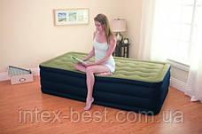 Односпальная надувная кровать Intex 67906 (191х99х46 см.) со встроенным электрическим насосом, фото 2