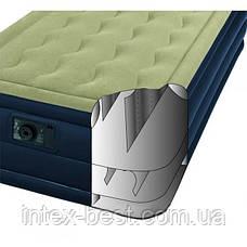 Односпальная надувная кровать Intex 67906 (191х99х46 см.) со встроенным электрическим насосом, фото 3