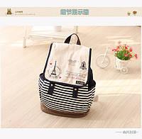 Стильный рюкзак в мелкую полоску , фото 1