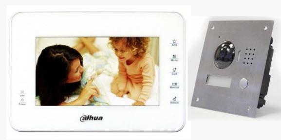 Установка цветных IP видеодомофонов с записью