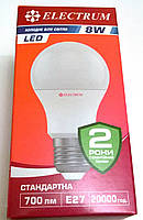 Светодиодная LED лампа шар 6W E27 4000K