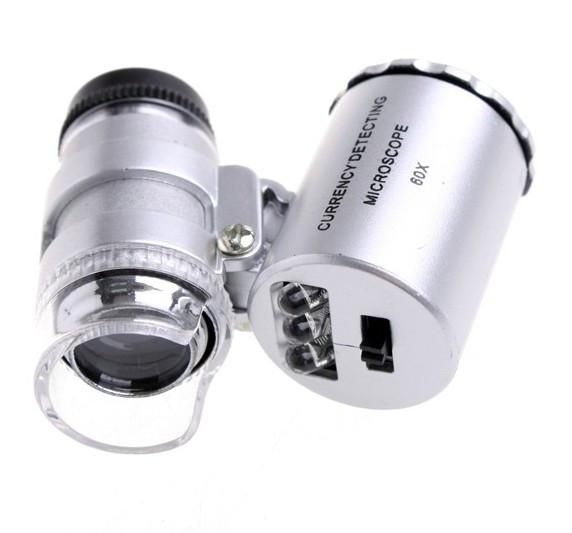 Микроскоп 60X Лупа с подсветкой #100054