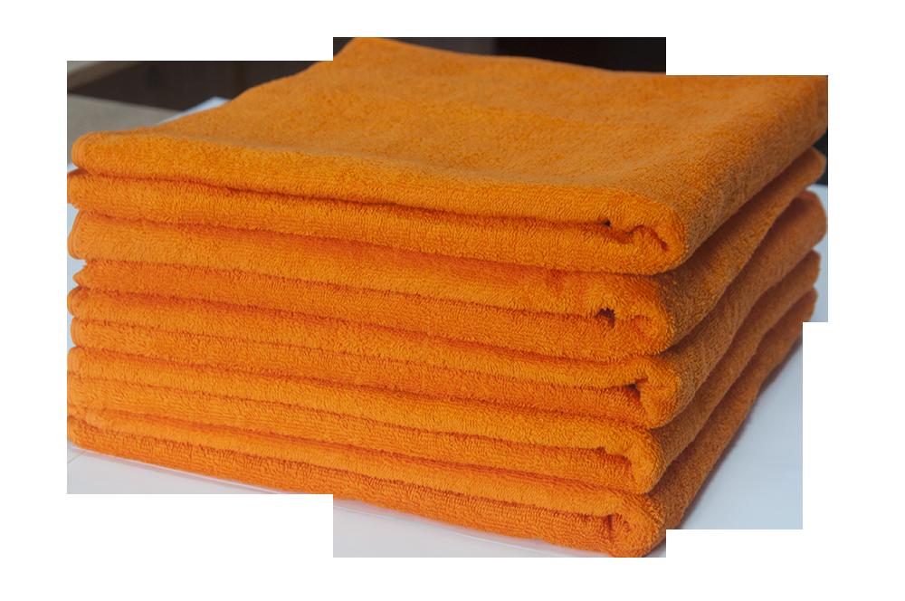 Полотенце махровое Lotus оранжевое 70*140 оптом