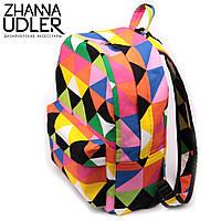 Яркий рюкзак треугольники, фото 1