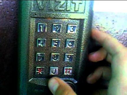 Монтаж домофонов Визит для многоквартирного дома на подъезд для 20 абонентов