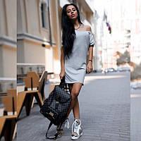 Платье женское короткое повседневное трикотажное P1219, фото 1