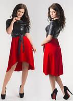 Платье женское кожаный верх в расцветках 8591, фото 1