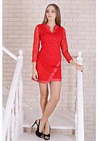 """Красное Гипюровое Платье для девушек """"Vikki"""" Scandal Sonya (Соня Скандал)"""
