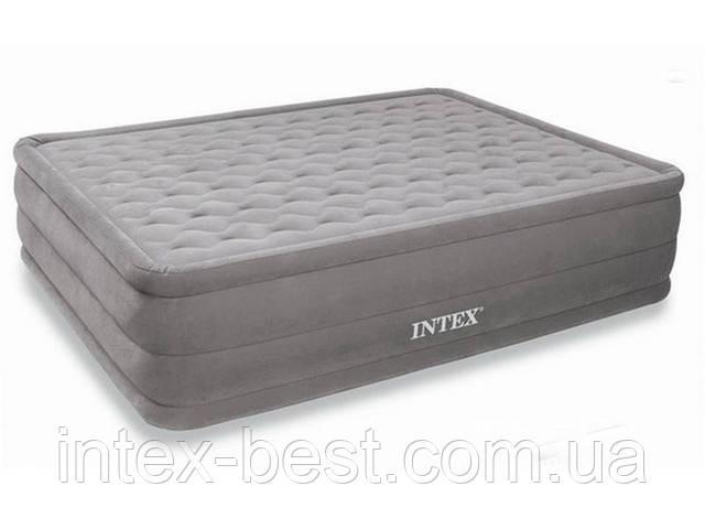 Двуспальная надувная кровать Intex 66958 (152х203х46 см.) со встроенным электрическим насосом