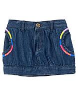 Детская джинсовая юбка для девочки  18-24 месяца