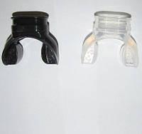 Загубник на трубку черный, прозрачный силикон