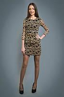 Нарядное гипюровое платье с баской