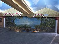 Фотопечать на сатиновых натяжных потолках
