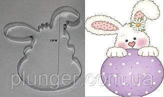 Вырубка для пряника Кролик с яйцом