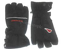 Перчатки горнолыжные Puissant, L, черный цвет.