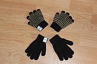 Перчатки детские весенние Черные 1 - 6 лет