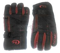 Перчатки горнолыжные Puissant, L, черный с красным.
