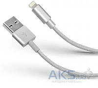 USB кабель est Lightning Cable in a Metal Braid White