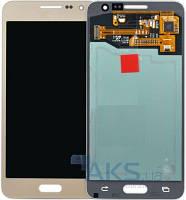 Дисплей (экраны) для телефона Samsung Galaxy A3 A300H, Galaxy A3 A300F, Galaxy A3 3500H, Galaxy A3 A300FU + Touchscreen Original Gold