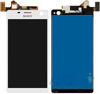 Дисплей (экраны) для телефона Sony Xperia C4 Dual E5333, Xperia C4 Dual E5343, Xperia C4 Dual E5363 + Touchscreen White