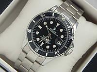 Мужские механические наручные часы Rolex Submariner на металлическом ремешке с датой, фото 1