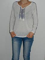 Блузка с вышивкой хлопок белая Divon 4760 Турция рр. М, XL