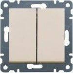 Выключатель 2-кл. крем Hager Lumina-2 WL0041
