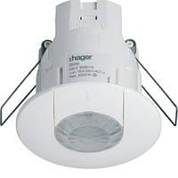 Датчик движения потолочный в фальш потолок (360 град., 230V, IP41) белый Hager EE816