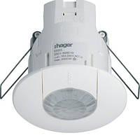 Датчик движения потолочный в фальш потолок (360 град., 230V,IP41) белый Hager EE815