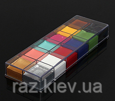 "12 цветов краска боди-арт для лица маслом макияж на хэллоуин, вечеринку ""Imagic"" make up 70 грамм, фото 2"