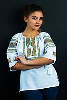"""Блуза с  вышивкой на домотканом полотне """"Американка"""", 470/420 (цена за 1 шт. + 50 гр.)"""