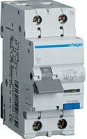 Дифференциальный автоматический выключатель (1+N, 40A, 30 mA, B, 6 КА, A) Hager AD940J