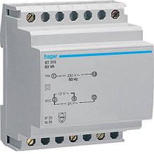 Защитный трансформатор (230В,63 Вт) Hager ST315